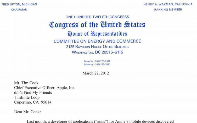 ... letter to tim cook congress letter to tim cook congress letter to tim