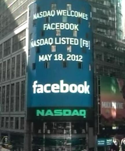 Nasdaq Welcomes Facebook