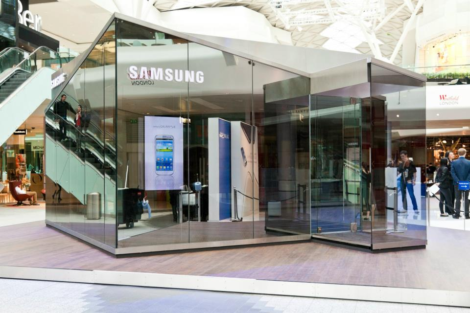 samsung is introducing pop up stores in london i2mag. Black Bedroom Furniture Sets. Home Design Ideas