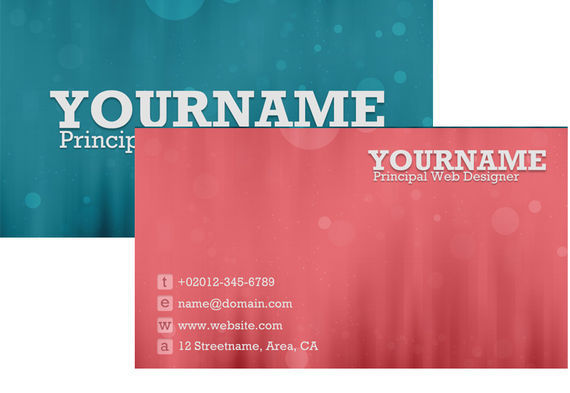 Business cards tutorials and examples i2mag trending tech news how to create a sweet bokeh business card in photoshop colourmoves