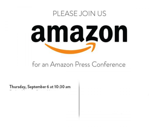 Amazon Press Conference Invitation Amazon Holding Press Conference On September 6th, New Kindle Fire Or Smartphone Expected