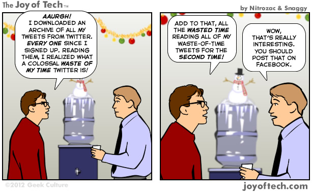 A Colossal Waste Of My Time Twitter Is! (Comic)