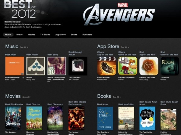 iTunes Best of 2012