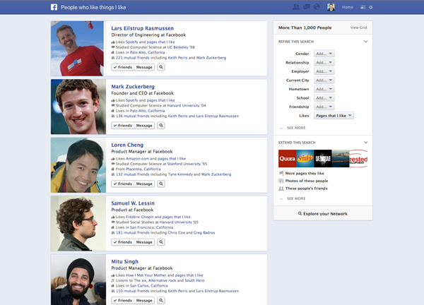 Facebook Graph Search