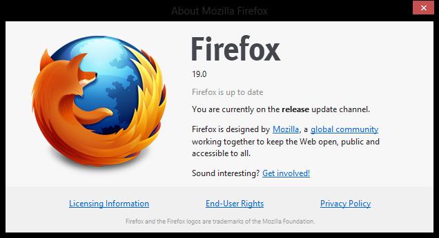 Firefox 19