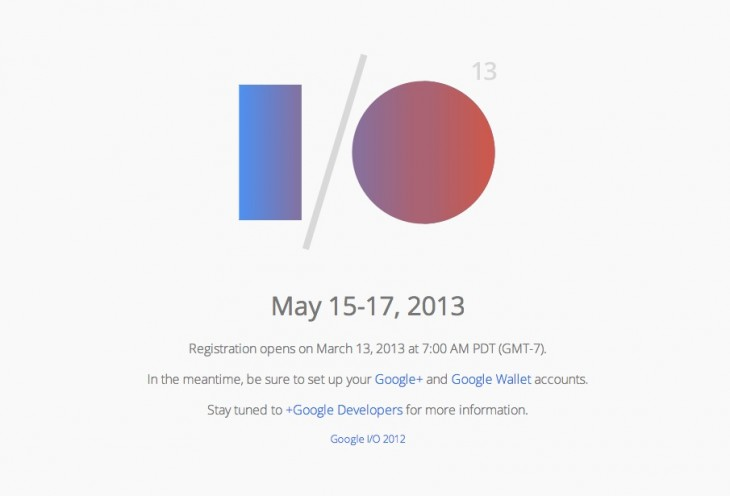 Google I/O Registration