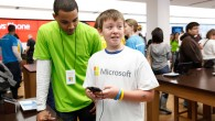 Having fun with Windows Phone at The Microsoft Retail Store at The Westchester