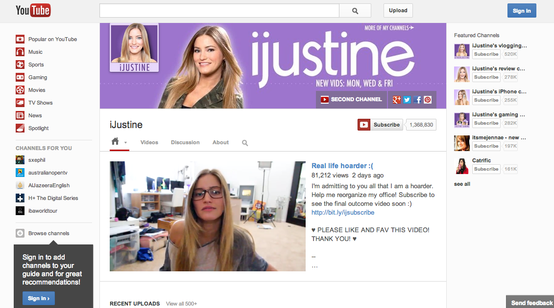YouTube-iJustine