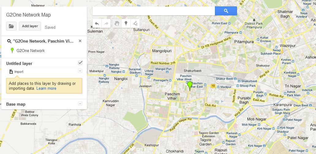 Google Maps Engine Lite G2One Network