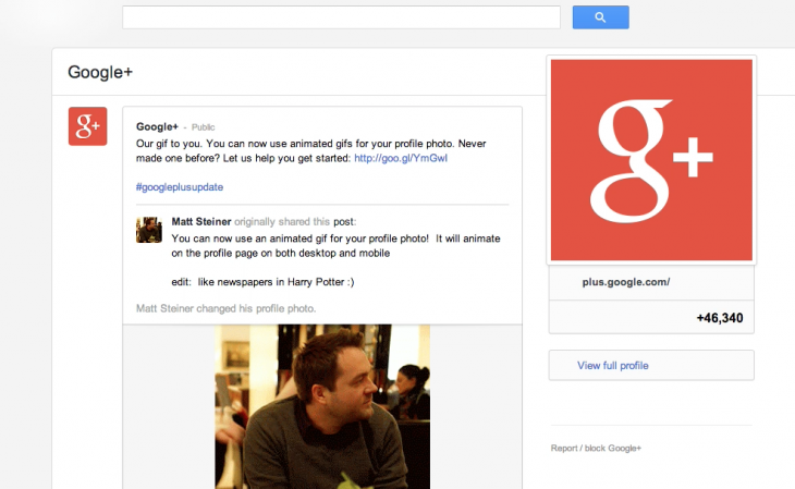 Google-Plus With Gif Photo