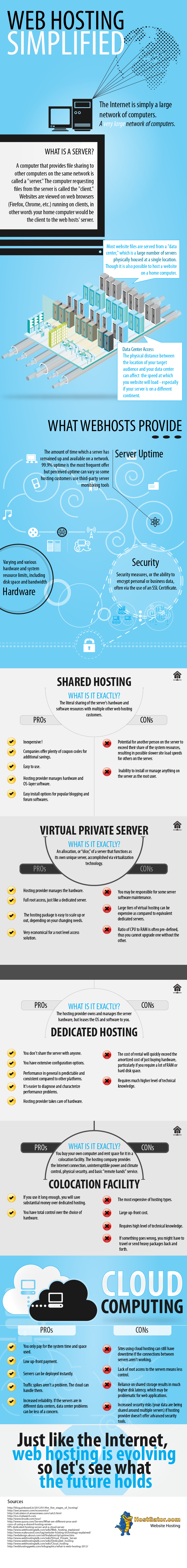 Web Hosting Simplified (Infographic)