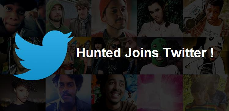 Hunted Joins Twitter