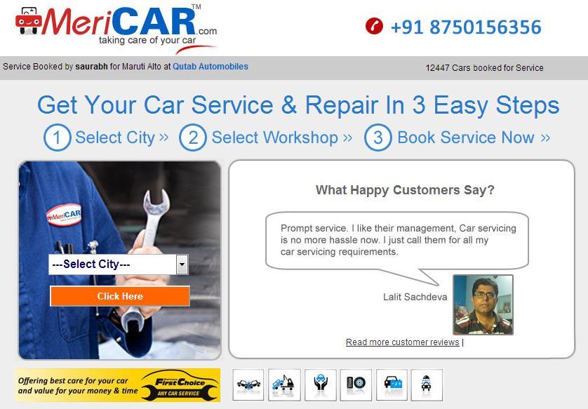 MeriCAR-Homepage