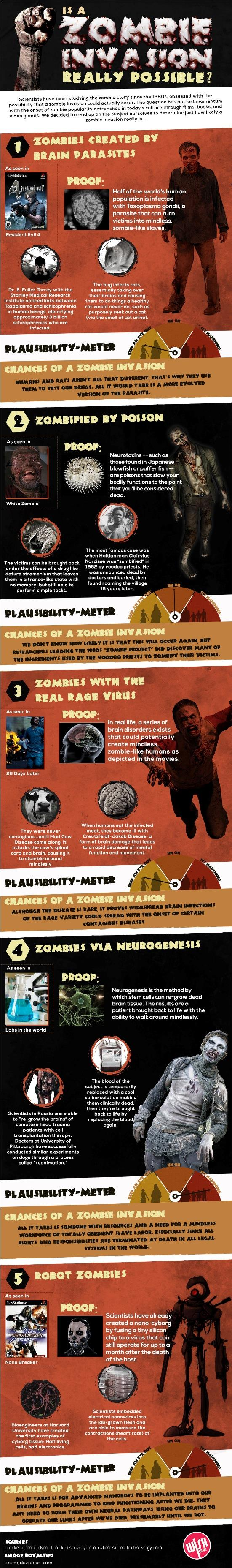 Is a Zombie Invasion Possible Infographic