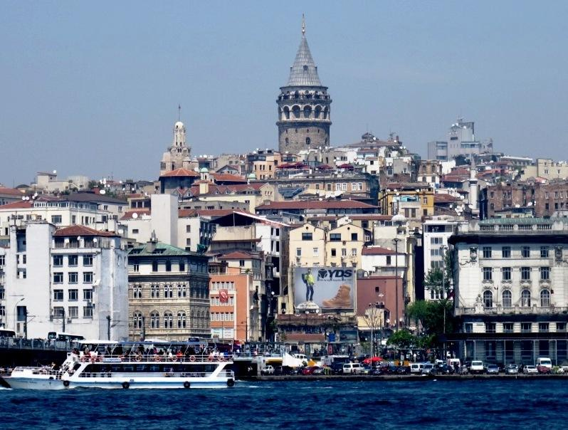 Looking across to Galata