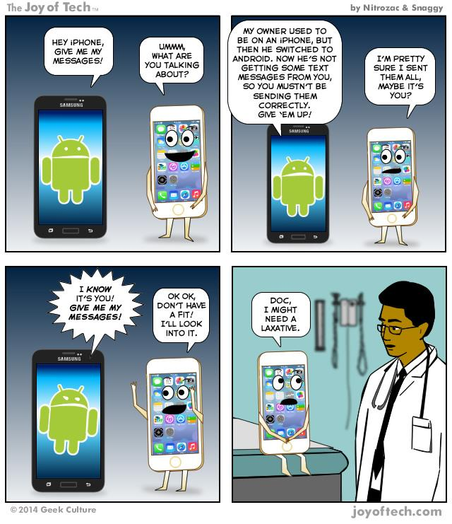 Hey iPhone, Give Me My Messages! (Comic)