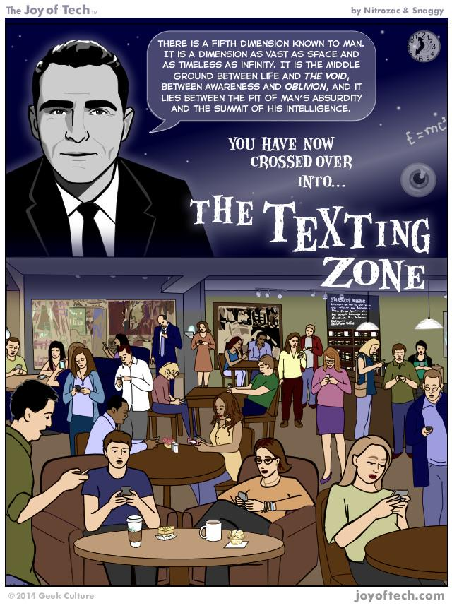 The Texting Zone (Comic)
