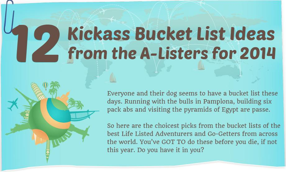 12 Kickass Bucket List Ideas from the A-Listers for 2014 Main