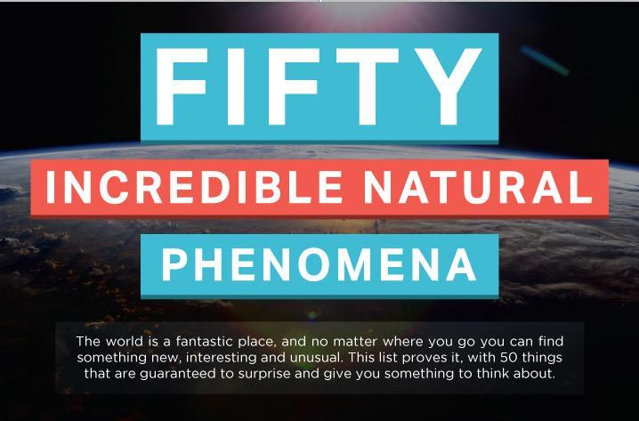 50 Incredible Natural Phenomena Main