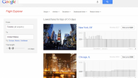 Google Flight Explorer