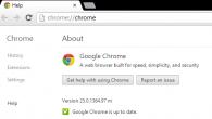 Google Chrome 25