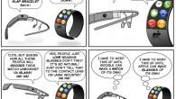 Project Glass Vs iWatch (Comic)